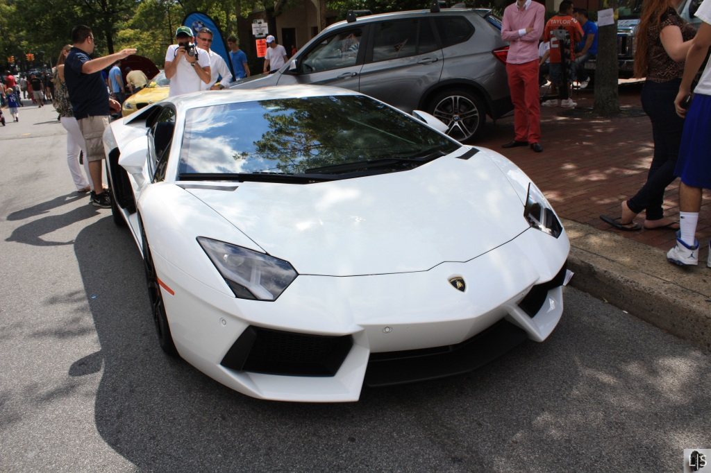 This Aventador famously split in half only days after the show