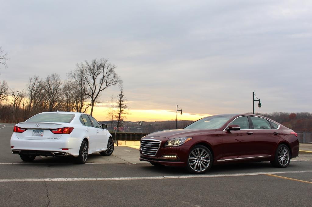 Hyundai Genesis Lexus GS 8