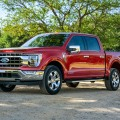 All-new F-150 Lariat in Rapid Red Metallic Tinted Clearcoat.